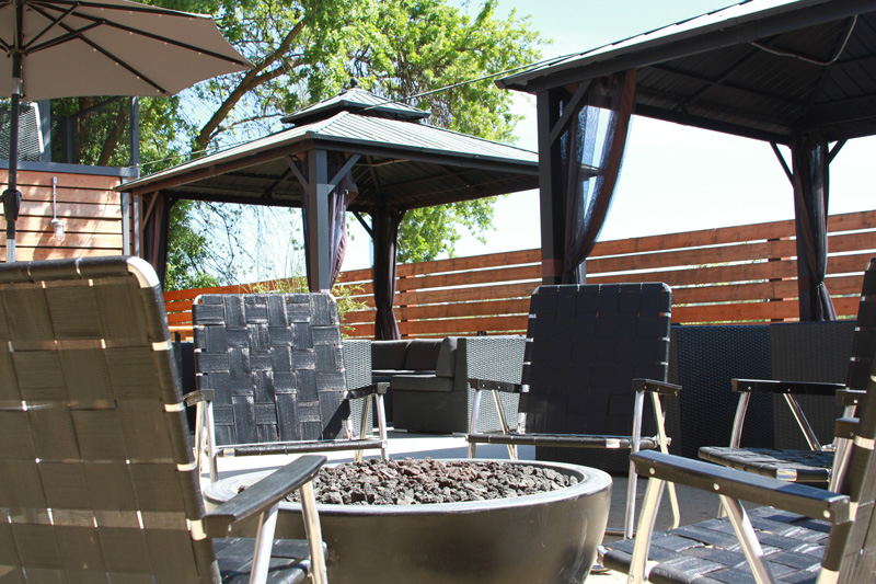 Fire Pit and Porches reservation area at The Backyard on Thirteenth